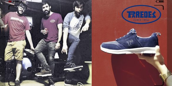 The Noises con sus zapatillas Paredes
